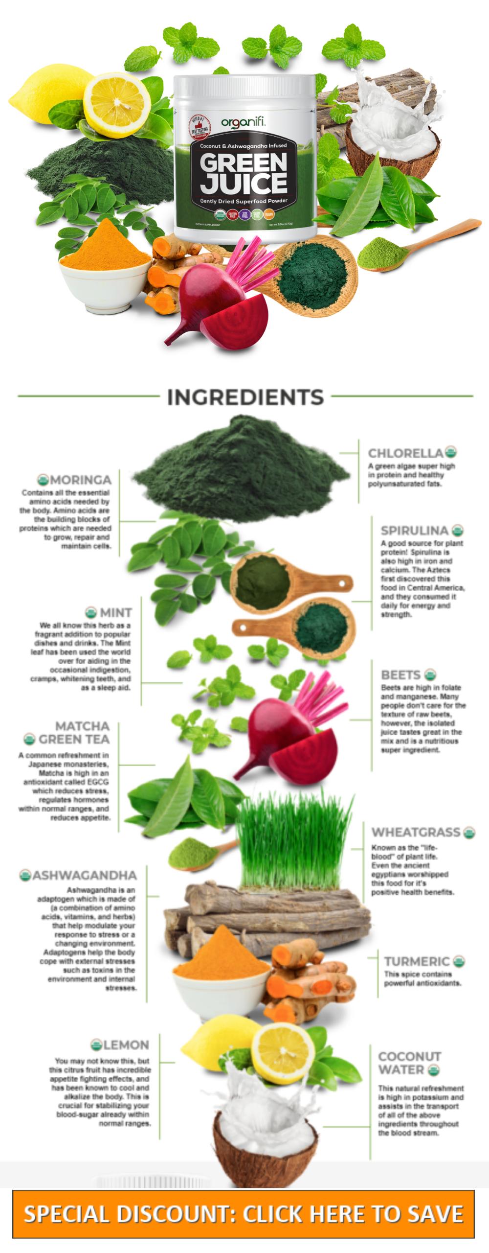 Green Juice Ingredients vs Multivitamins